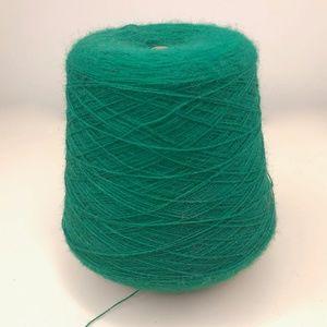 VTG Green Acrylic Yarn Cone 1 lb